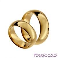 Förlovningsring 18k guld, kupad 7 mm x 2,3 mm                          ABlox6NJP3