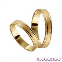 Förlovningsring 18k guld, rak 4 mm - Frost - Opal                          ECFvYQEKyP