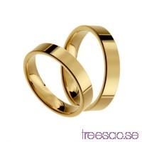 Förlovningsring 18k guld, rak 4 mm x 1,4 mm                          lspIMkcwMU