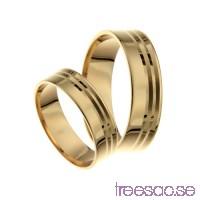 Förlovningsring 18k guld, rak 6 mm - Selected - Citrine                          x0KOkhHnXG
