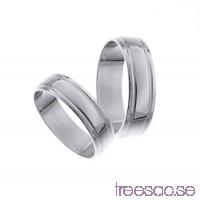 Förlovningsring 18k vitguld, kupad 6 mm - Selected - Obsidian                          TsFM5cSxkA