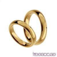 Förlovningsring 9k guld, kupad 4 mm x 2,3 mm                          E7LDjeb9uS