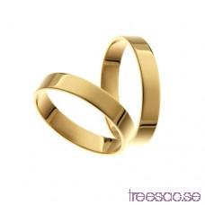 Förlovningsring 9k guld, rak 4 mm TbLuWhL5Bm