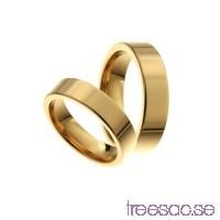 Förlovningsring 9k guld, rak 5x1,95 mm                          wxhUKsY0n8