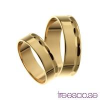 Förlovningsring 9k guld, rak 6 mm - Selected - Pearl                          LkxpEED55T