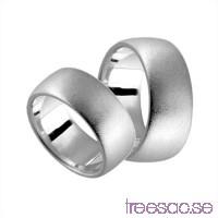Förlovningsring i silver, kupad 10 mm - Frost                          Xnoh76sqL8