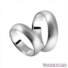 Förlovningsring i silver, kupad 6 mm - Frost 1On8cLmpUM