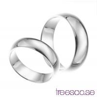 Förlovningsring i silver, kupad 6 mm                          ycEDBhXTbf