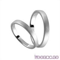 Förlovningsring i silver, rak 3 mm - Frost                          Fy0mL1wglY