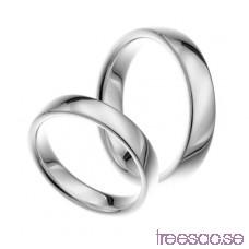Förlovningsring i silver, rak 4 mm rROU4s80xg