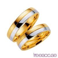 Förlovningsring Schalins 258-5 14k tvåfärgat guld QfOtGIyG6f