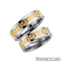Förlovningsring Schalins 5001-6 9k Guld/Titan                          fcnXUy2wLH