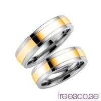 Förlovningsring Schalins 5006-6 9k Guld/Titan                          10fADCu89t
