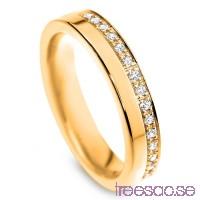 Schalins Venus Vigselring Ebba 9k guld, WSI diamanter 0,15 ct                          N2Mos3it8z