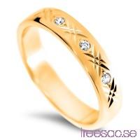 Schalins Venus Vigselring Eda 14k guld, WSI diamanter 0,06 ct                          pJmWqnVmco