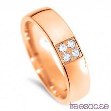 Schalins Venus Vigselring Helena 18k roséguld, WSI diamanter 0,12 ct wytWDQLusd