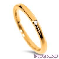 Schalins Venus Vigselring Iris 9k guld, WSI diamant 0,01 ct                          bYtD4WYHX3