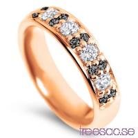 Schalins Venus Vigselring Sif Black 18k roséguld, Svarta/Vita WSI/WVS diamanter 0,60 ct                          z5Tx9jeSUo