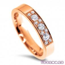 Schalins Venus Vigselring Tove 14k roséguld, WVS/WSI diamanter 0,29 ct lcmcUlRz36