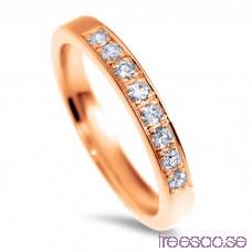 Schalins Venus Vigselring Tuva 14k roséguld, WSI diamanter 0,24 ct RbzsuGHirp