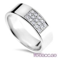 Schalins Venus Vigselring Tyra Silver, WSI diamanter 0,15 ct hQaDgojTmm