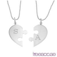 2-delat Hjärta i silver med gravyr fX4xcj0cXA