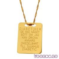 Diabetes-bricka i 18k guld                          OEV14Zwhky
