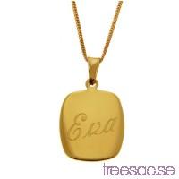 Hänge i 18k guld med valfri gravyr, 18 x 15 mm                          kS1CuqGmYB