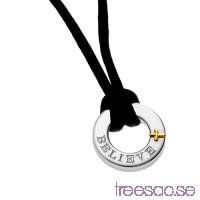 Hänge med valfri gravyr i 925 Silver 18x10x3 mm med ett kors i 18k guld rdY1YLiK6a