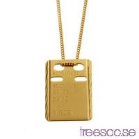 ID-Bricka med valfri gravyr - 18k guld, 13x19 mm facetterad                          7zVVzfpAYI