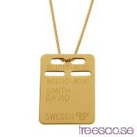 ID-Bricka med valfri gravyr - 18k guld, 19x27 mm                          26UFV6Lffj