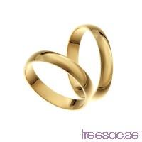 Ring 18k guld, kupad 4 mm                          vCFxbWYSp5