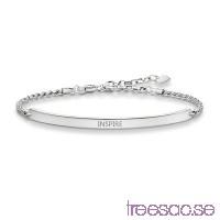 Thomas Sabo, Love Bridge Gravyrarmband 18 cm Svart 925 Sterling Silver eu172w5yqI
